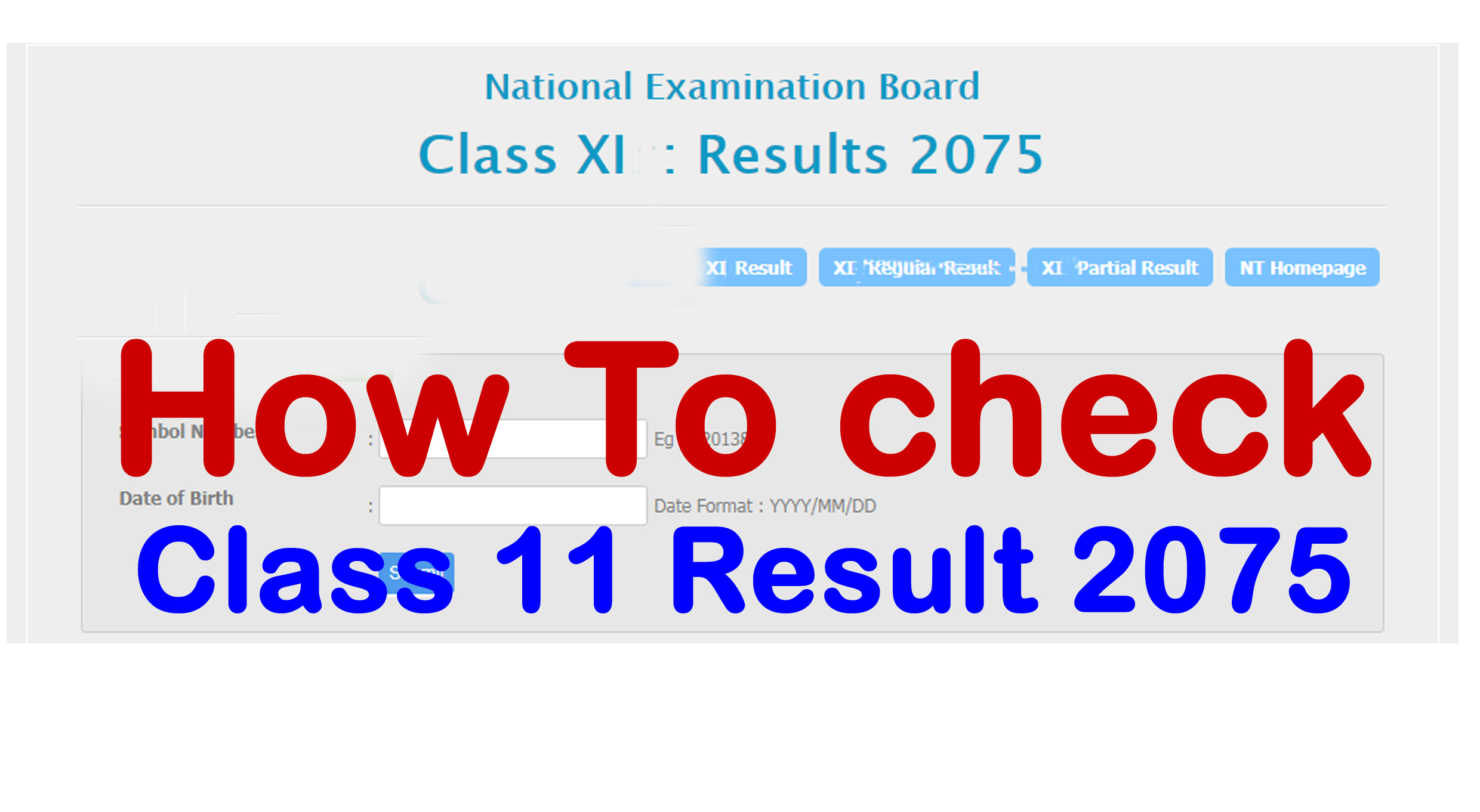 How to Check Class 11 Result 2075 With Mark-sheet || Neb Result 2075-Class  11