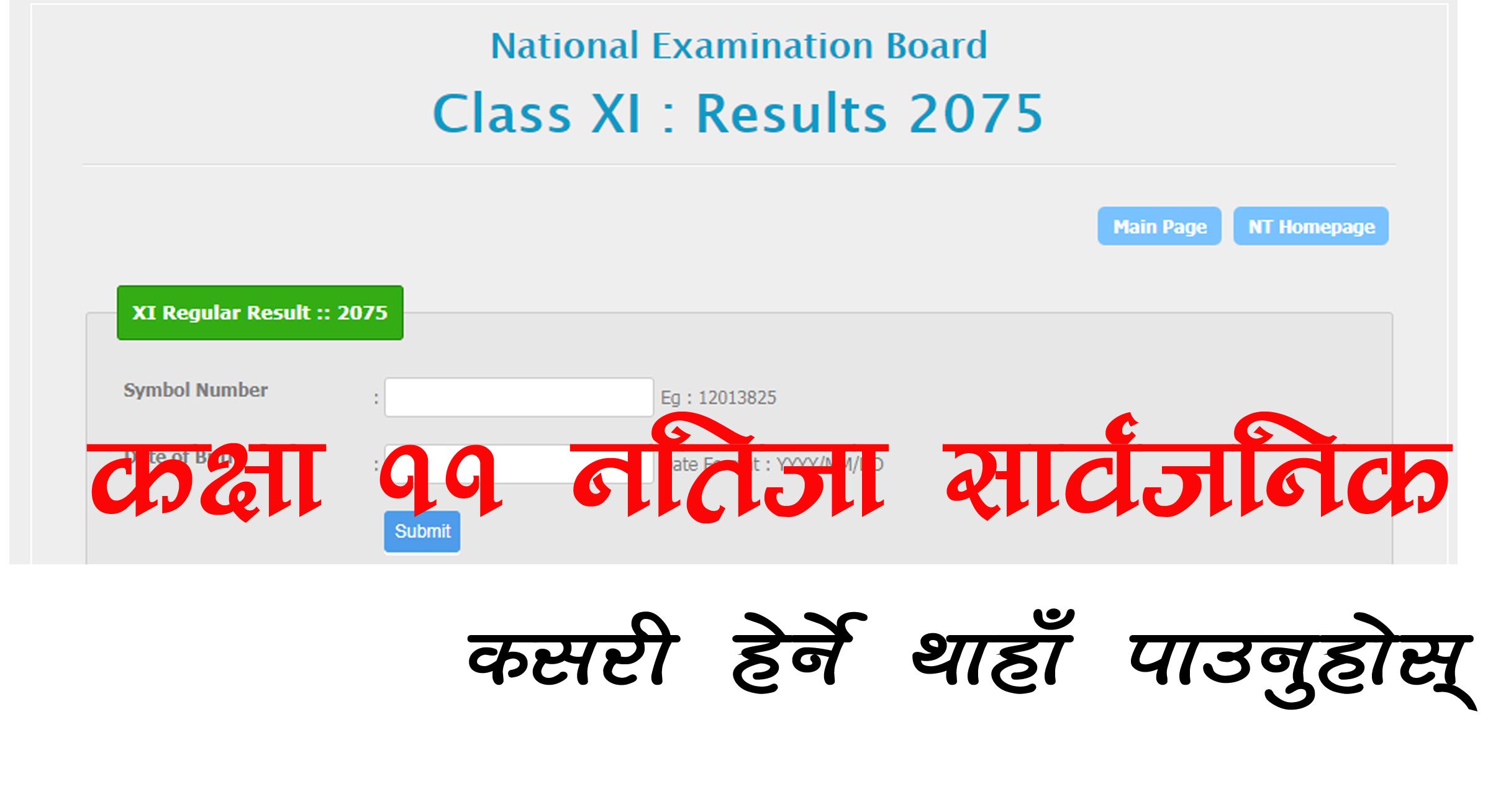 Grade 11 result 2071
