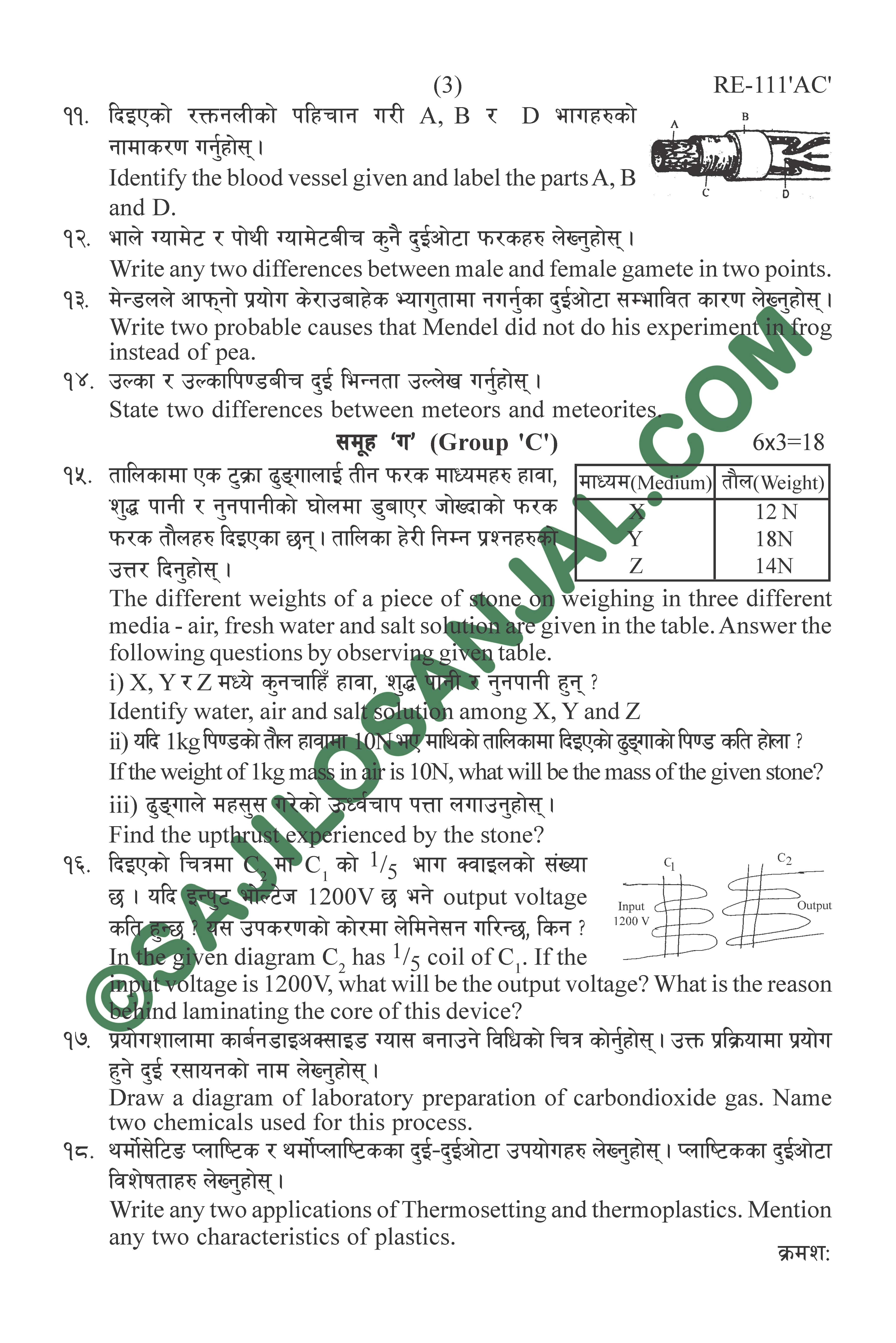 By B Hints || See Question Paper 2075
