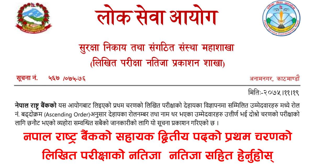 Nepal Rastra Bank Exam Result, NRB Exam Result, NRB Exam Result 2018, NRB Exam Result 2075, Bank Exam Result, Exam Result, Nepal bank Exam Result,