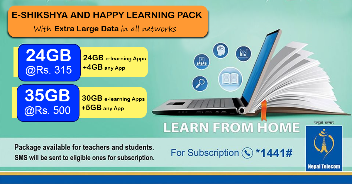 Introduces Nepal Telecom e-Shikshya Pack and Happy Learning Pack